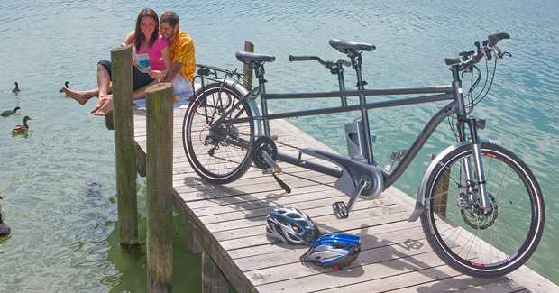 bicicletta elettrica due posti