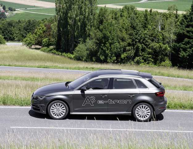 Der Audi A3 Sportback e-tron geht an den Start