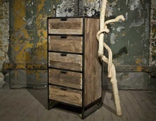 Mobili In Legno E Ferro : Tavolo legno e ferro allungabile stile industry in legno riciclato