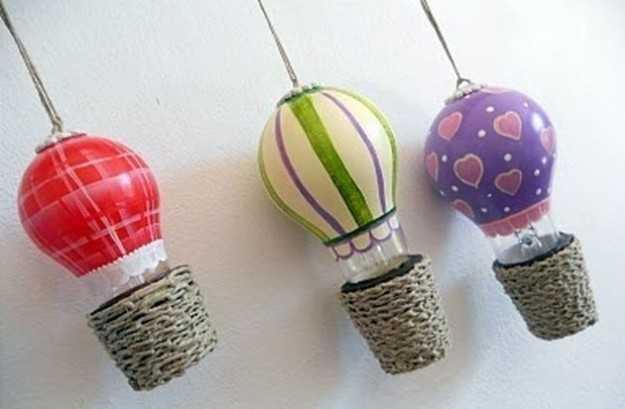 come riciclare le lampadine in modo creativo