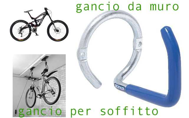 gancio per bici da muro