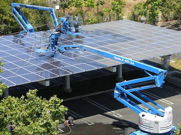 pulire pannelli solari