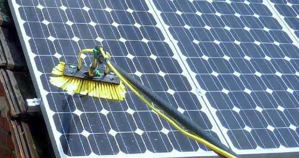 spazzola pulizia fotovoltaico