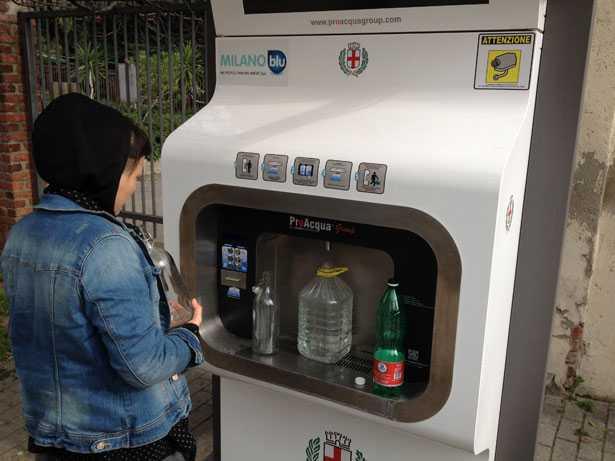 Acqua gassata gratis a Milano