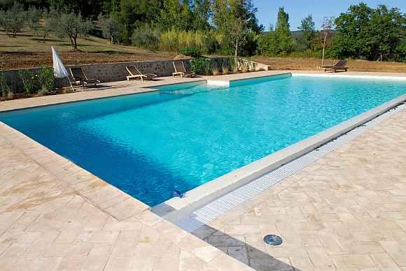 Pavimenti in cotto - piscina