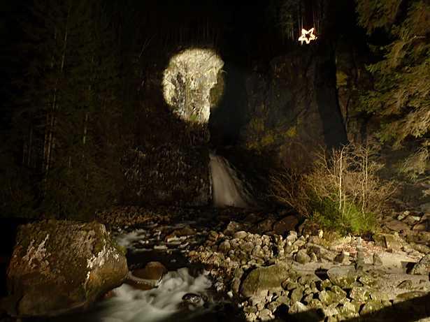 Campo Tures - cascate illuminate