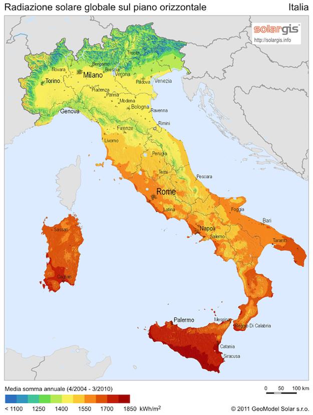 mappa fotovoltaica