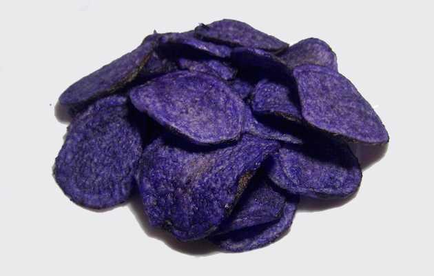 patatine viola fritte