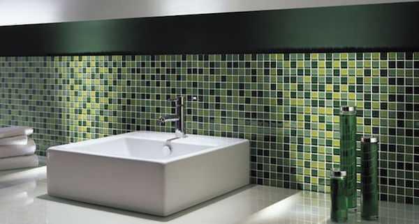 Mosaico adesivo fai da te idee green - Mosaico rivestimento cucina ...