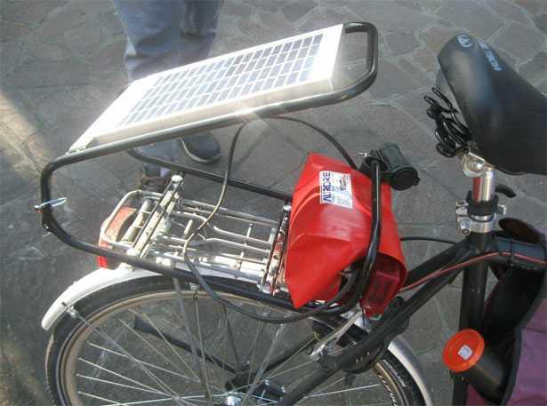 Pannelli solari per cicloturismo
