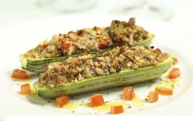 zucchine ripiene vegan