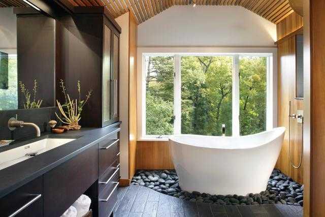 Vasca Da Bagno Stile Giapponese : Arredare il bagno in stile zen idee green