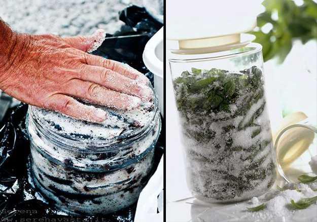 conservare sotto sale