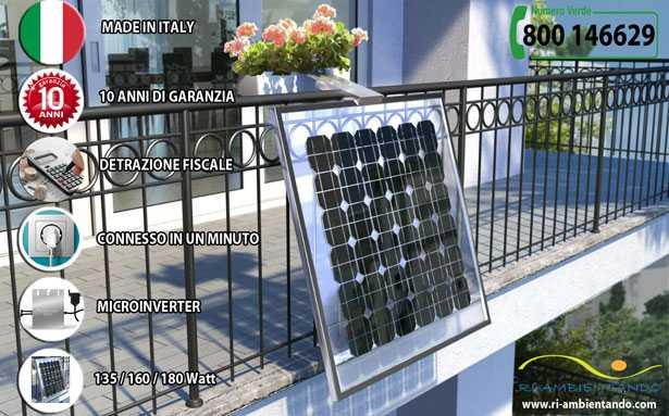 Pannelli fotovoltaici portafiori