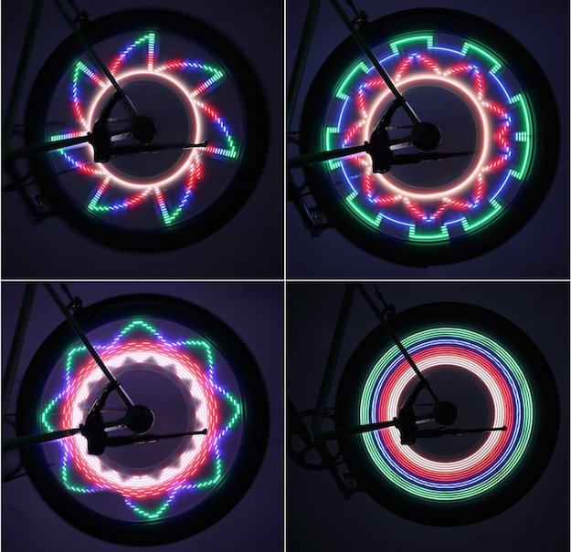 luci ruote bicicletta