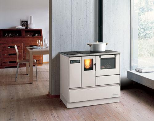 termostufa con forno a pellet