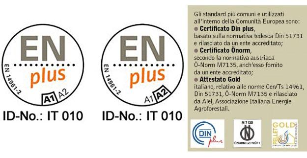 certificazioni pellet