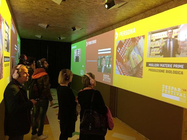 Corporate Social Responsibility: il tunnel multimediale al Despar Festival