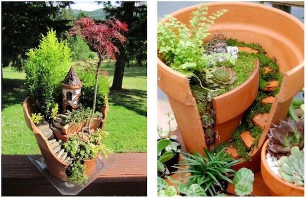 riciclare vasi terracotta