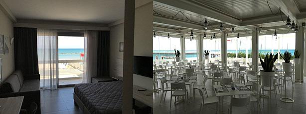 Nautilus luminosità camere e ristorante