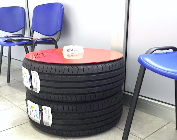Pouf con pneumatici fuori uso idee green