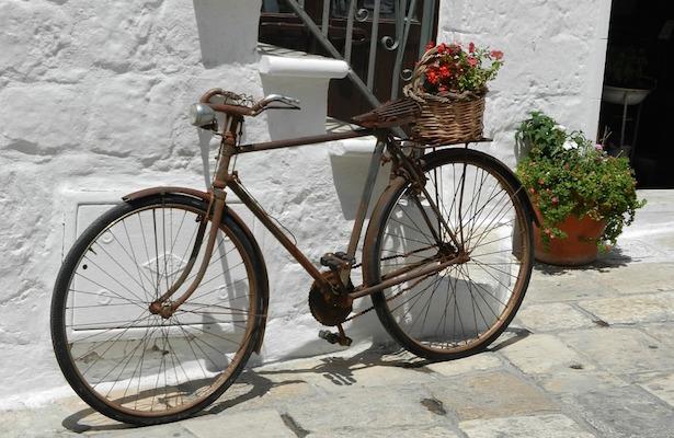 togliere ruggine dalla bici