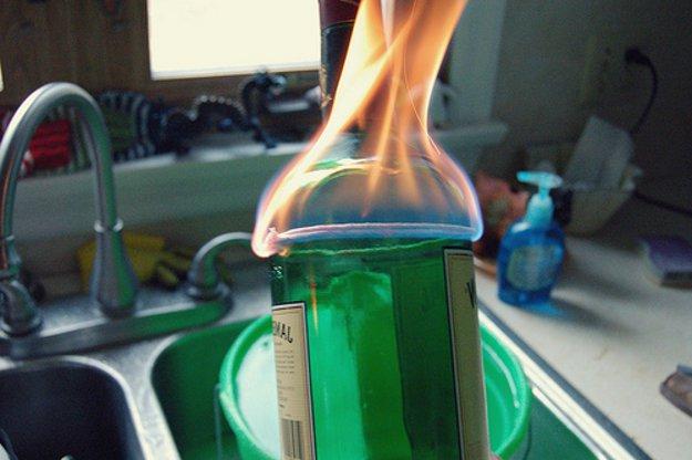 bottiglia vetro taglio
