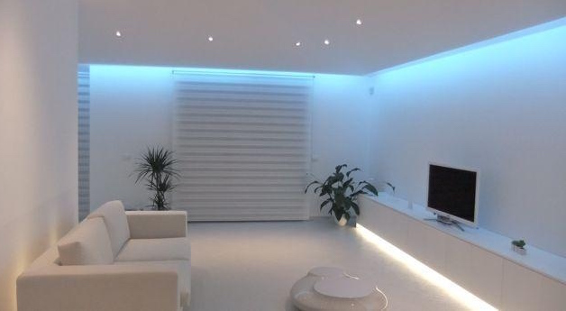 Controsoffitto multifunzione con led idee green for Cartongesso controsoffitto