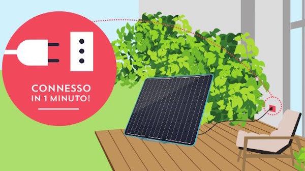 piccolo impianto fotovoltaico balcone