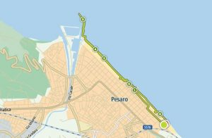 Tracciato GPS corsa Nautilus - Pesaro