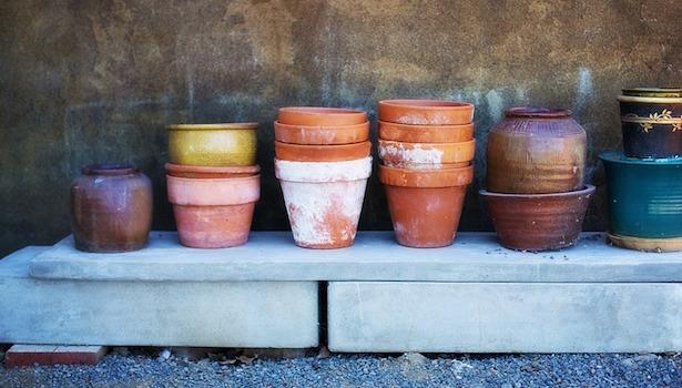 pitturare vasi terracotta