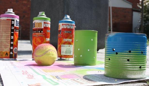 riciclare barattolo di plastica