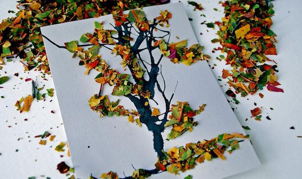 decorare con le foglie