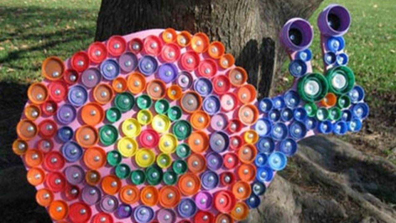 Come Costruire Un Mosaico come riciclare i tappi di plastica - idee green
