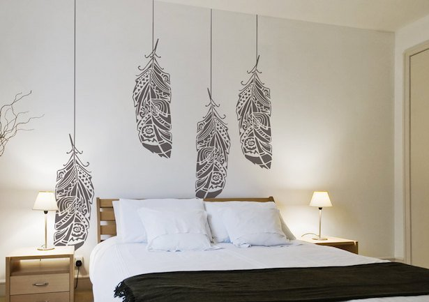 Decorare con gli stencil idee green for Stencil per pareti