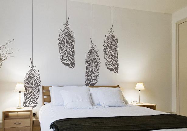 Decorare con gli stencil idee green - Stencil per decorare pareti ...
