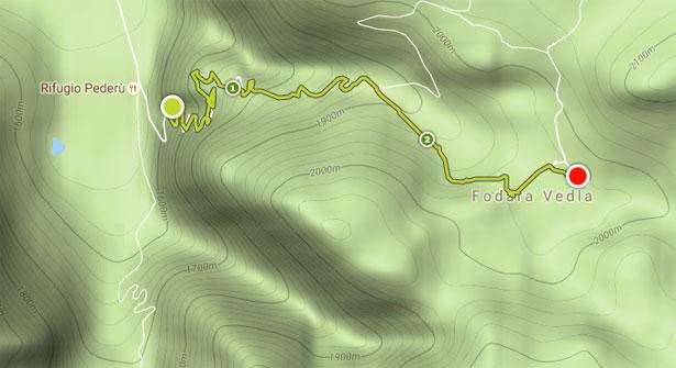 Trekking Pederu Fodara mappa