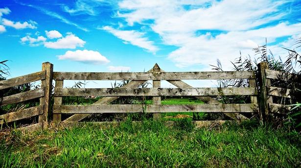 recinzione per orto in legno
