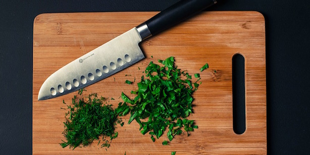 Erbe aromatiche in cucina