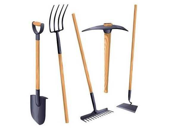strumenti di giardinaggio