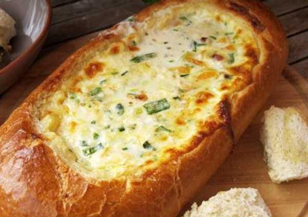 fonduta di formaggio nel pane