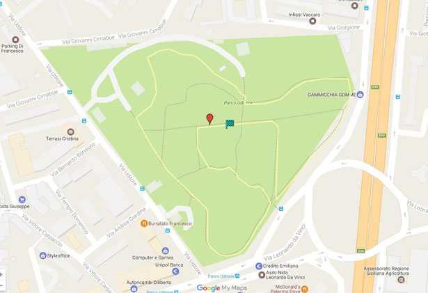 mappa parkrun uditore Palermo