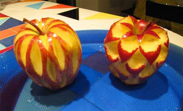 frutta intagliata mela