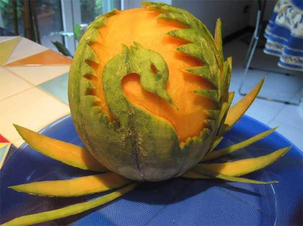 frutta intagliata melone