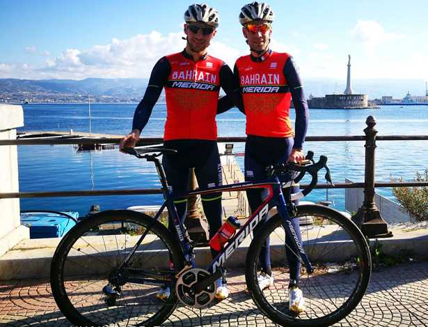 Fratelli Nibali in allenamento per Bahrain Merida