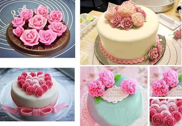 rose con pasta di zucchero