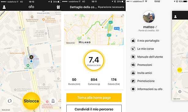 app OFO bike sharing