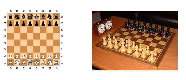 scacchi disposizione dei pezzi