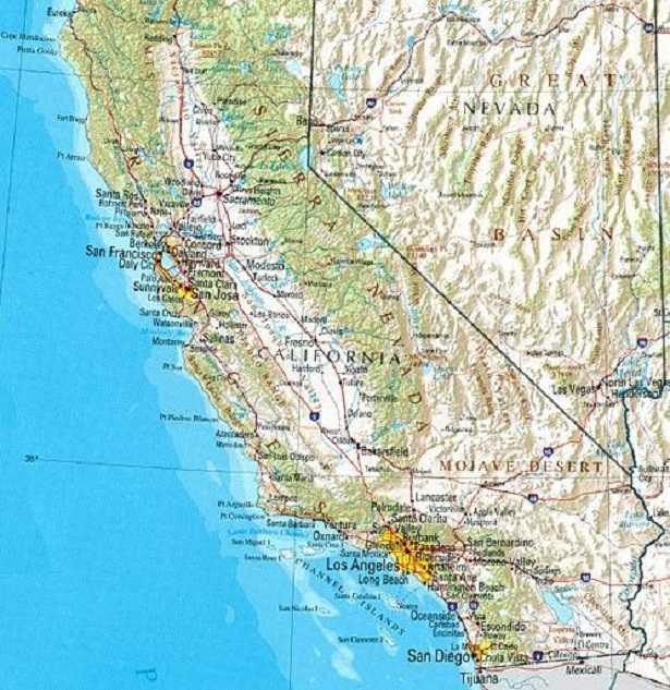 Faglia di Sant'Andrea: mappa