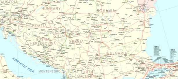 mappa serbia kosovo